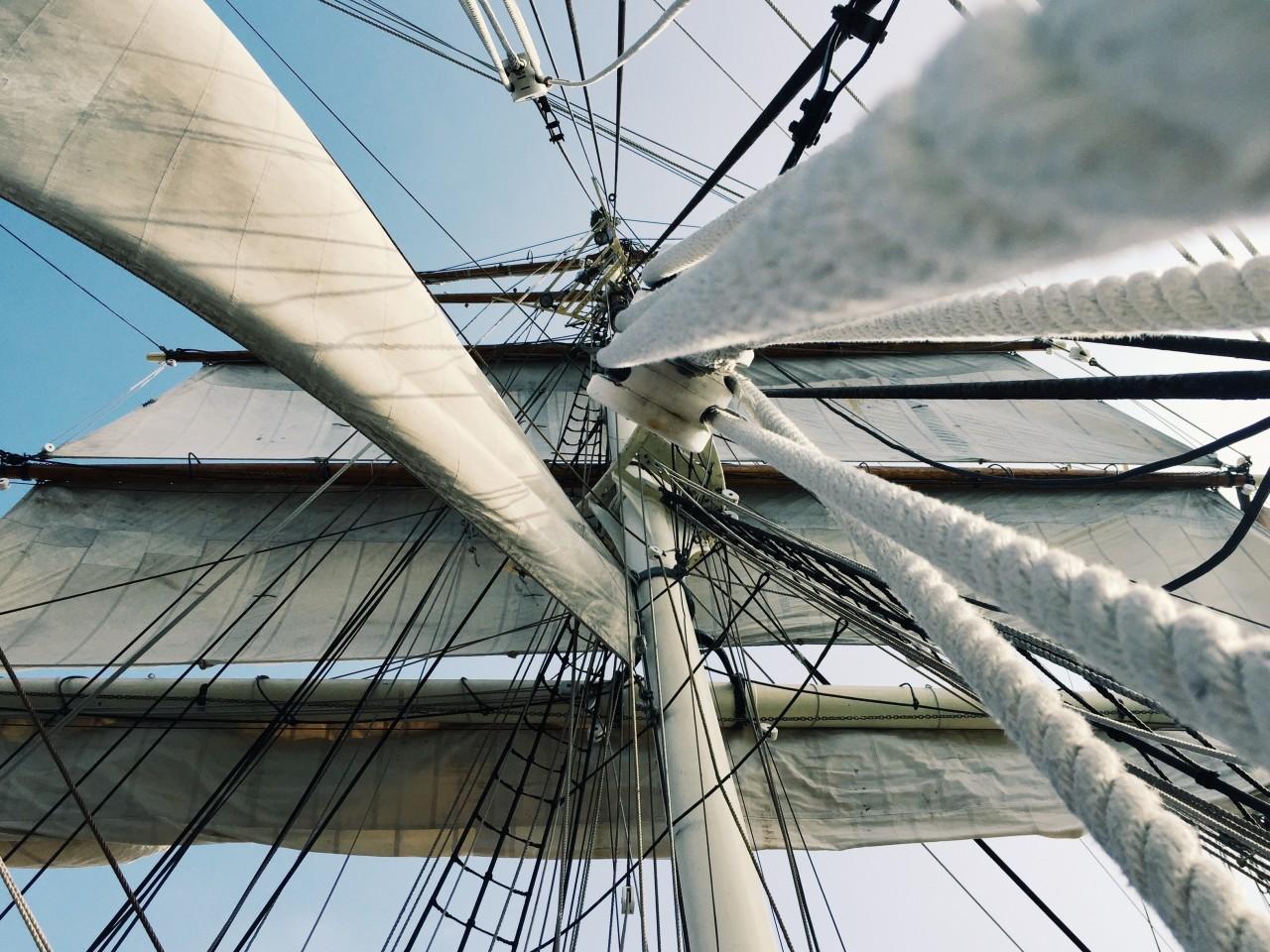 Oro del mare parte con il vento in poppa